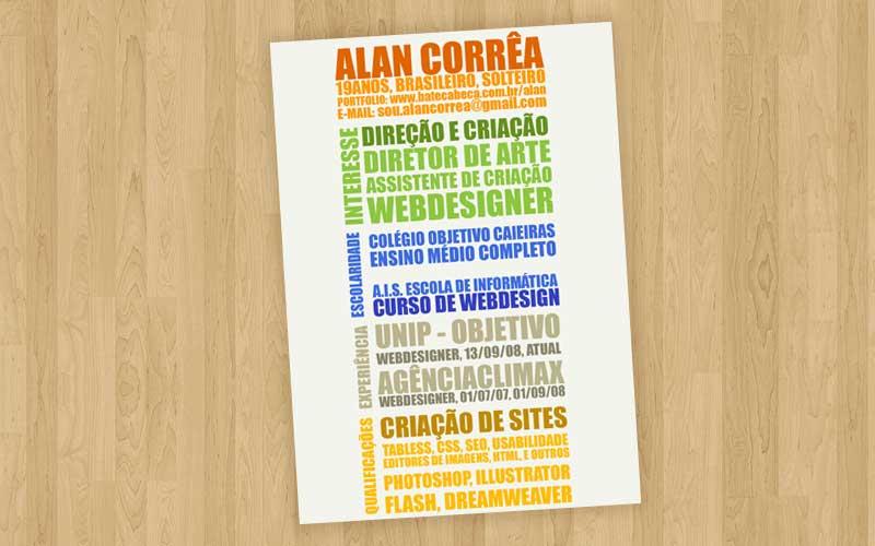 Currículo - Alan Correa - 2008